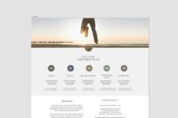 webdesign clean design colours circles