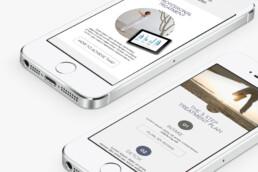 webdesign mobile Mirage iphone white