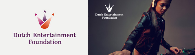 logo design dutch entertainment foundation bespreking